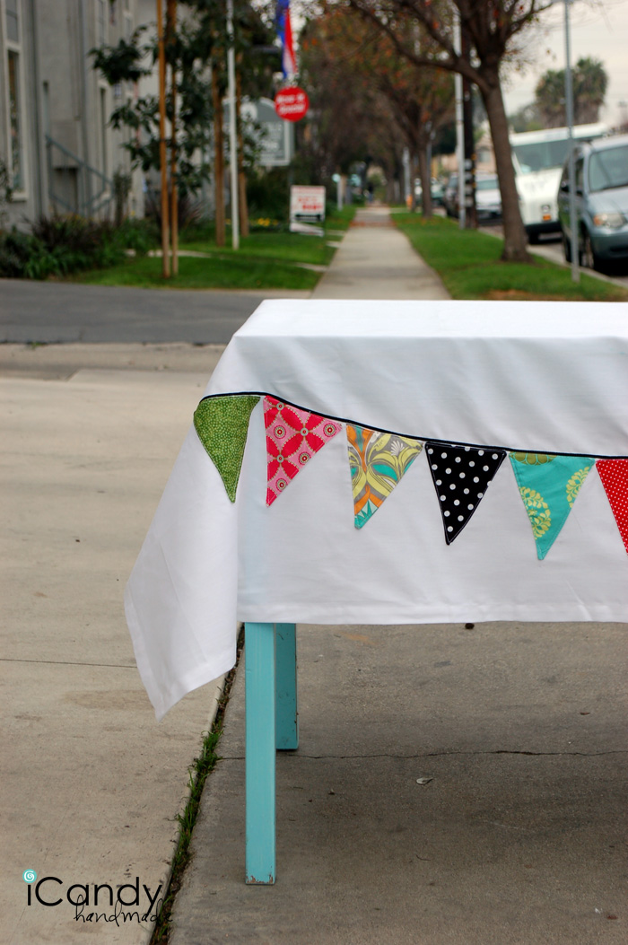 party pennant easy trick icandy handmade. Black Bedroom Furniture Sets. Home Design Ideas
