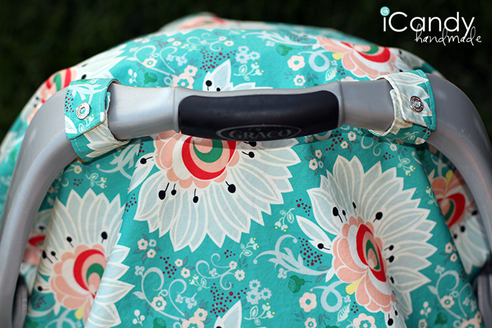 Carseat Canopy Wide Close Up & DIY Carseat Canopy - iCandy handmade