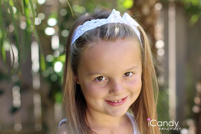 Big Girl Elastic Lace Headband