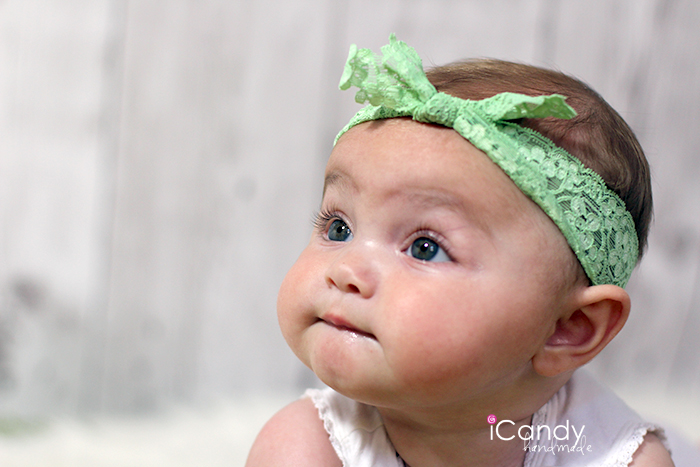 Green Elastic Lace Headband