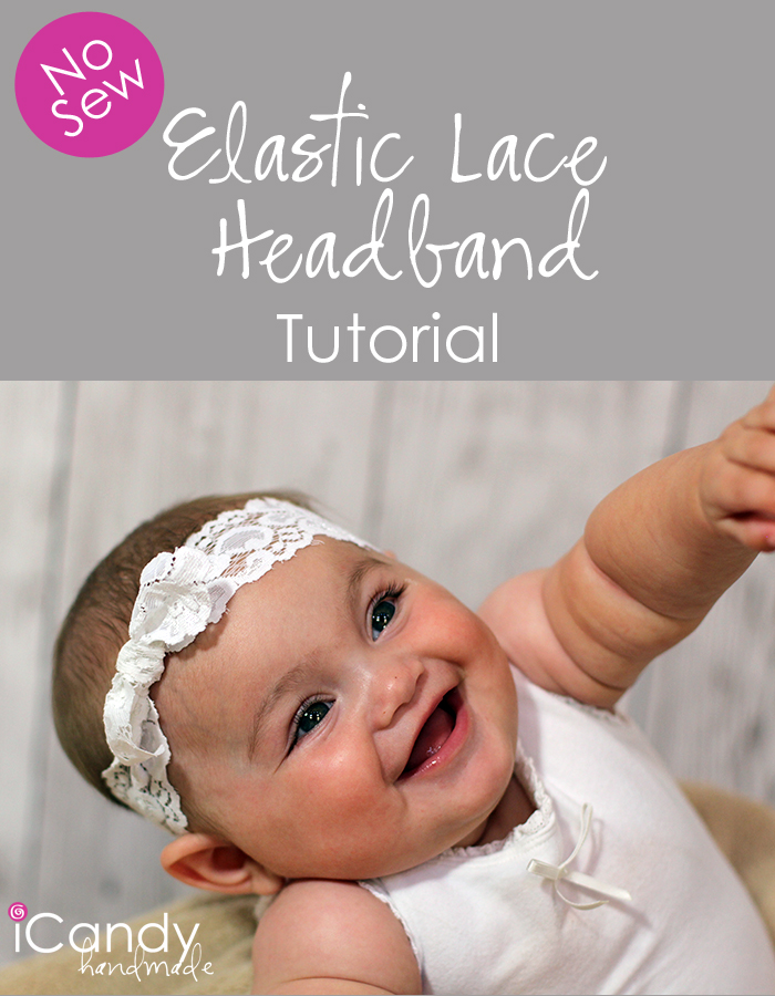 No Sew Lace Headband Pin Image