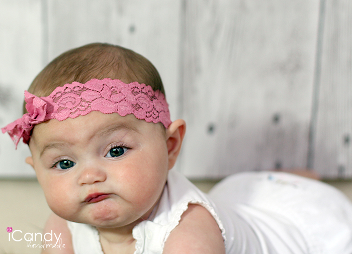 Rose Elastic Lace Headband