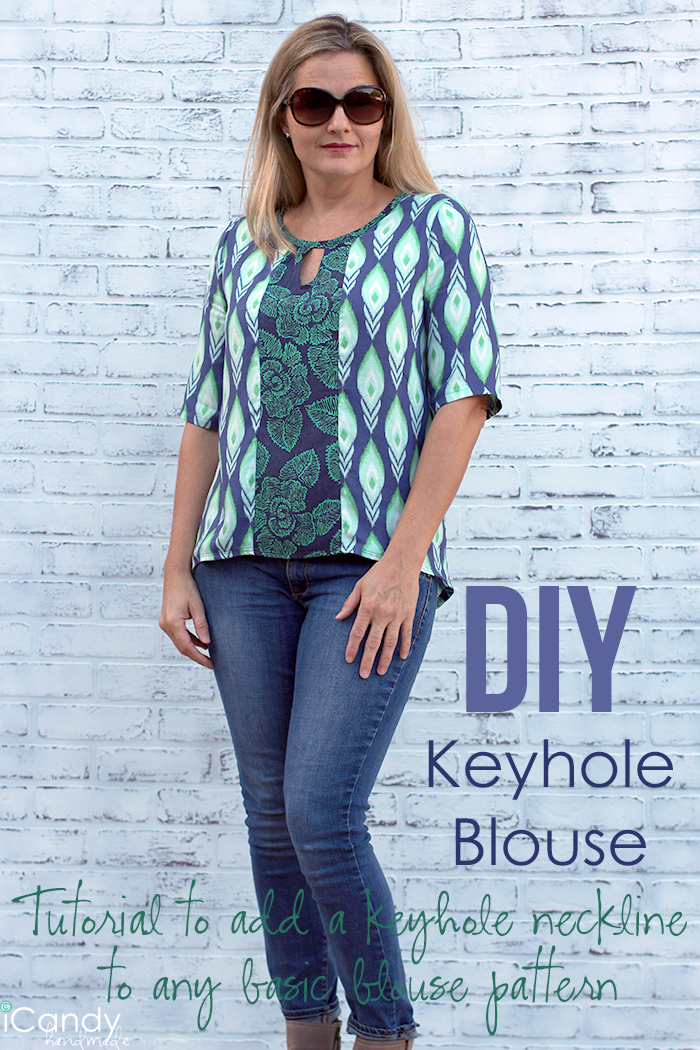 Keyhole Blouse Tutorial Pin It