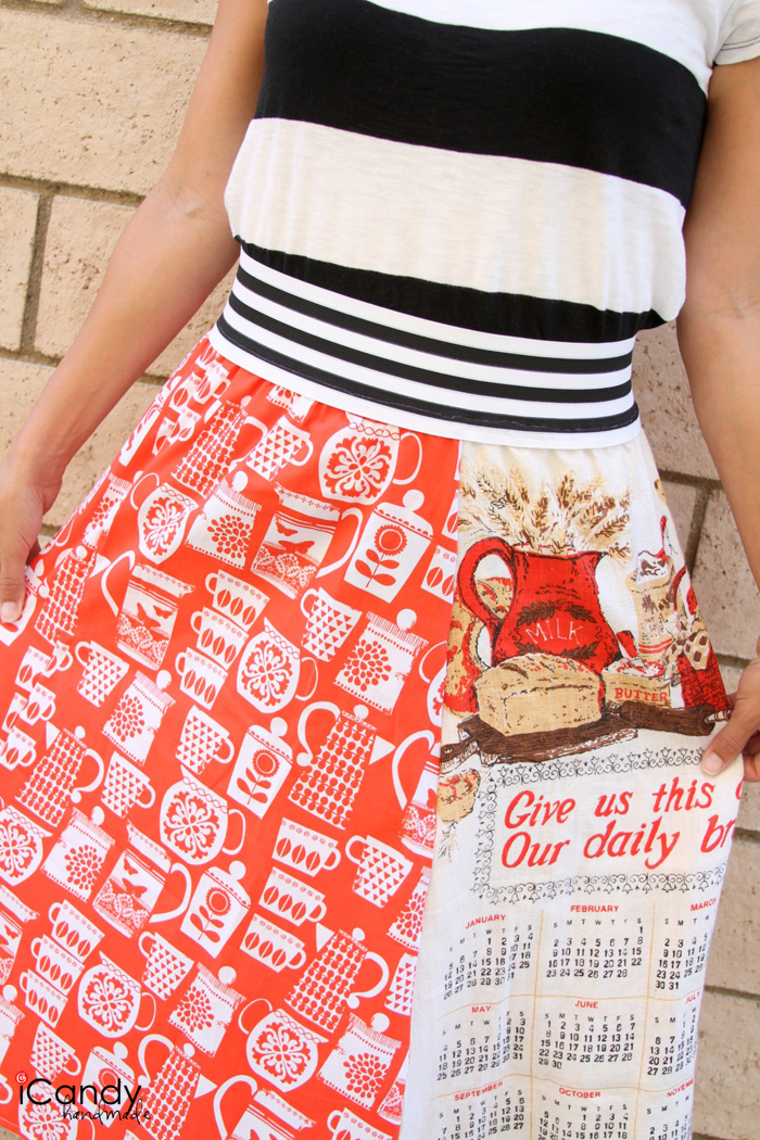 tea towel skirt c