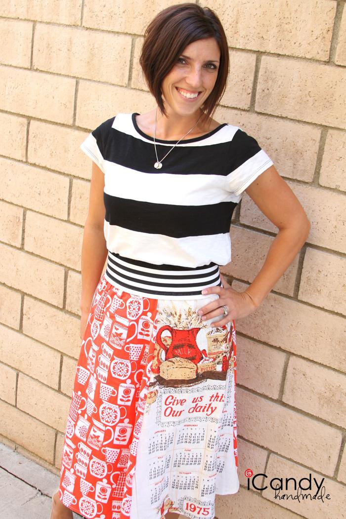 tea towel skirt