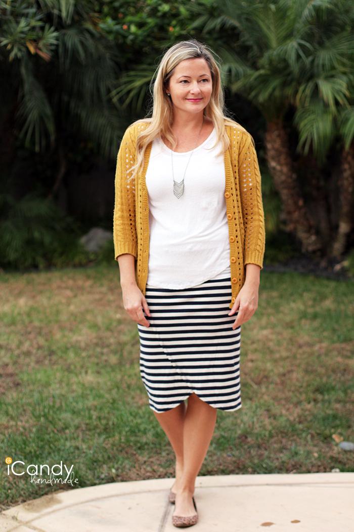 Faux Wrap Knit Pencil Skirt3