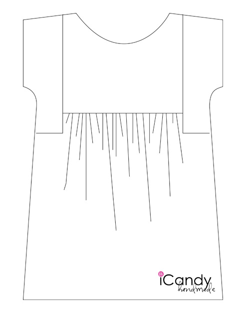 iCandy Everyday Boho Dress Line Drawing