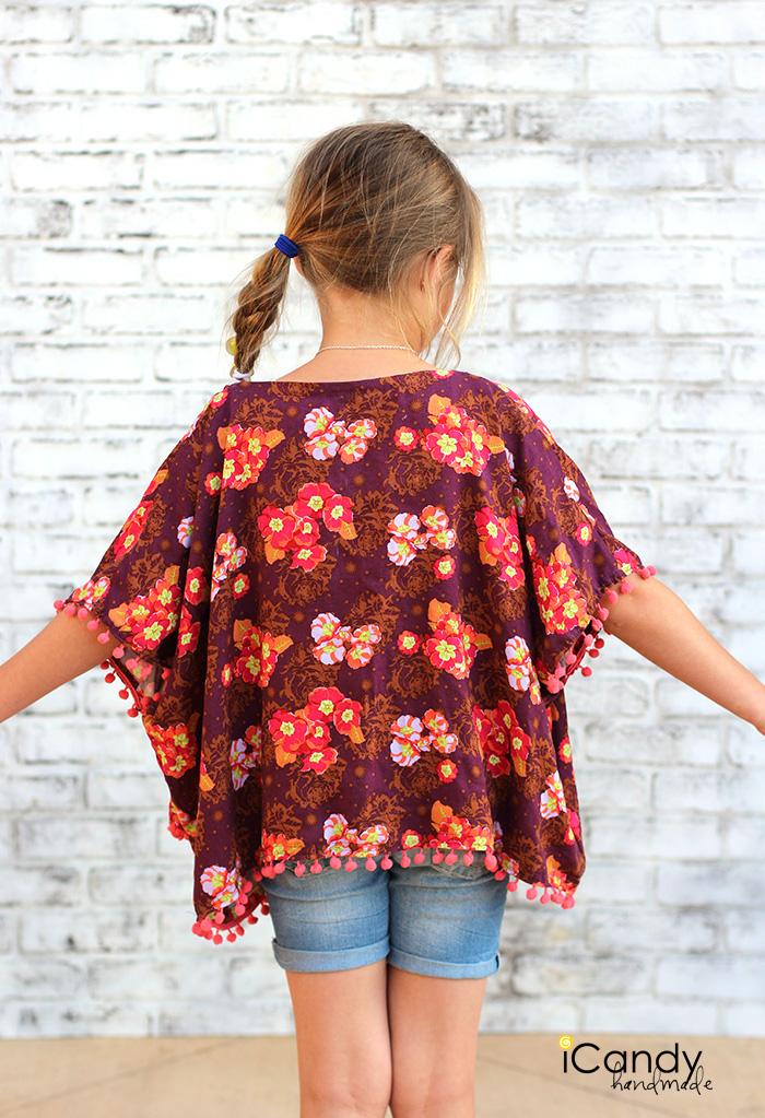 iCandy Girls Pom Pom Kimono 2