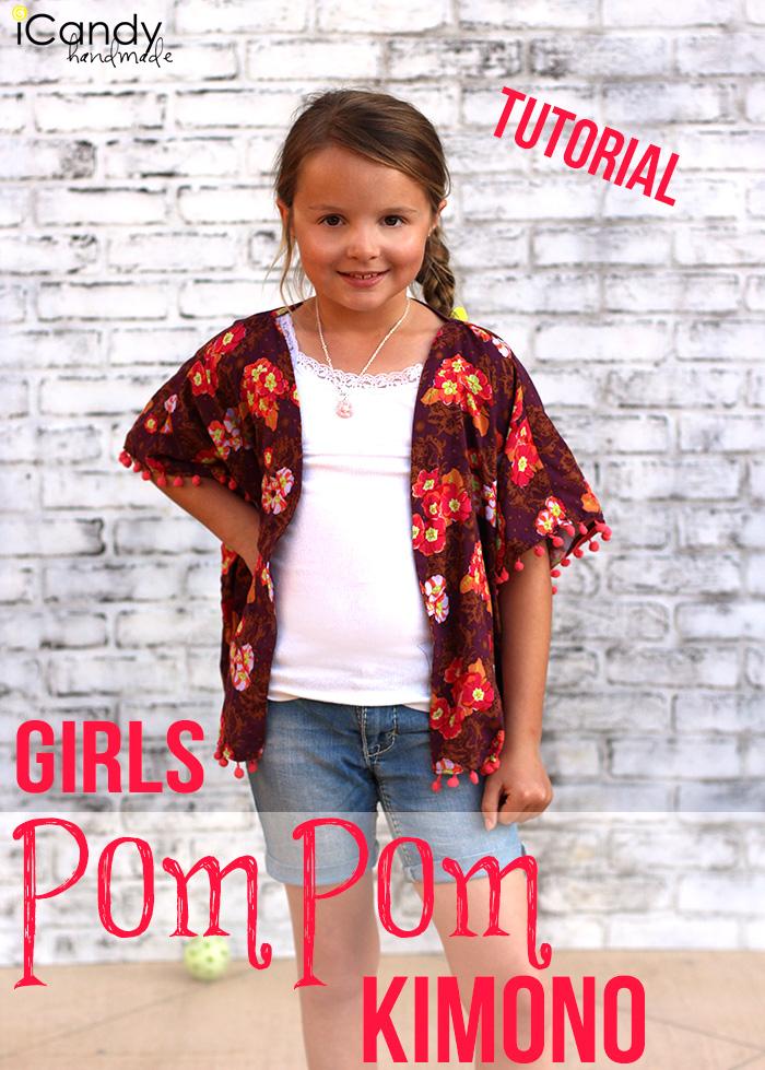 iCandy Girls Pom Pom Kimono Main