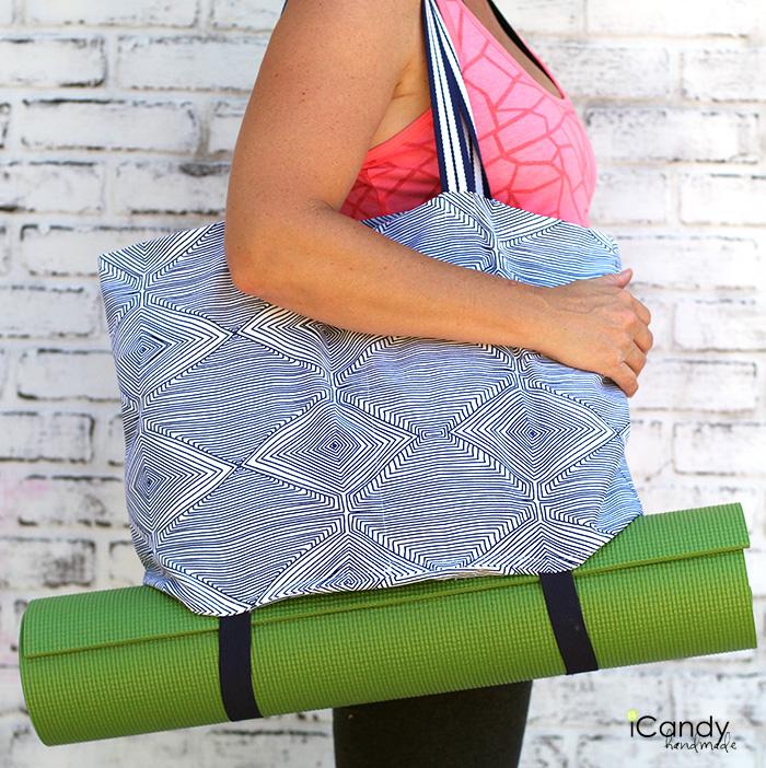 iCandy handmade yoga tote tutorial 1