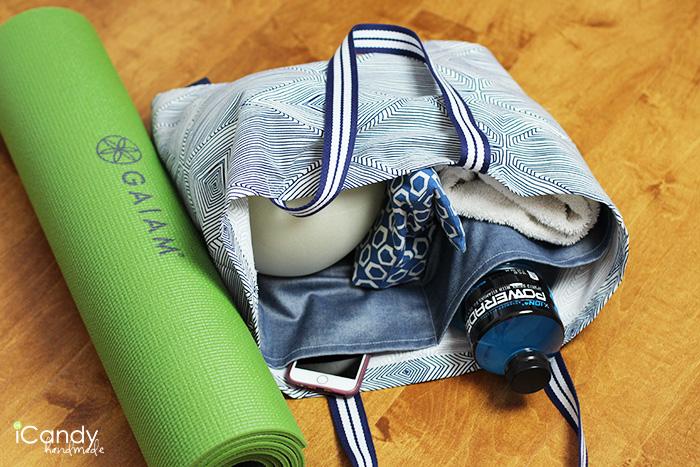 iCandy handmade yoga tote tutorial 3