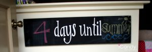 Chalkboard 'Days Until' Sign
