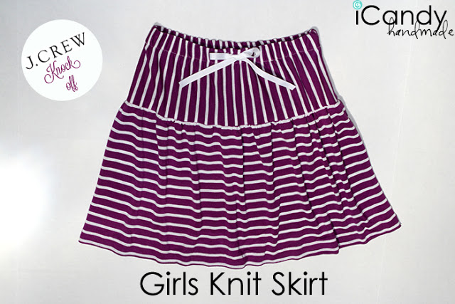 J Crew Knock-off: Girls Knit Skirt