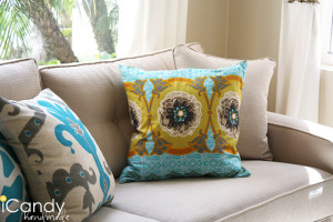 Zippered Throw Pillows