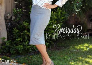 Everyday Knit Pencil Skirt Tutorial