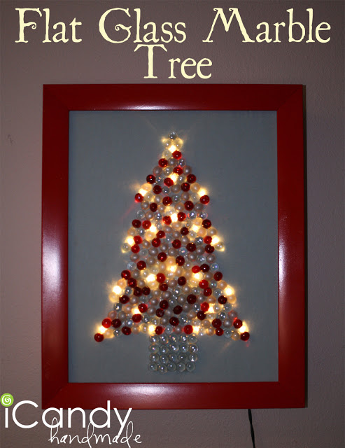 Flat Glass Marble Tree