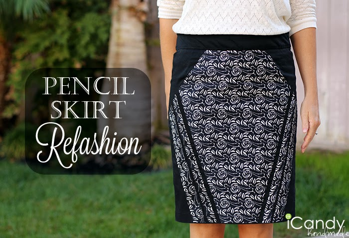 Pencil Skirt Refashion Tutorial