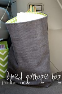 Lined Car Garbage Bag