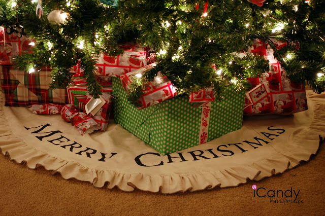Drop-Cloth Tree Skirt