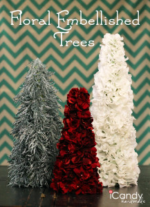 Floral Embellished Trees