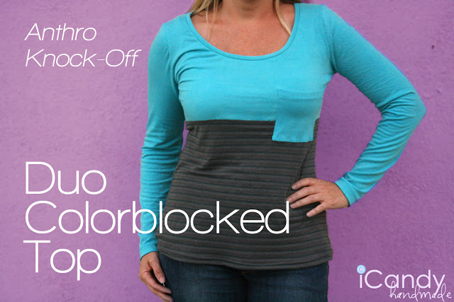 Anthro Knockoff: Duo Colorblocked Top