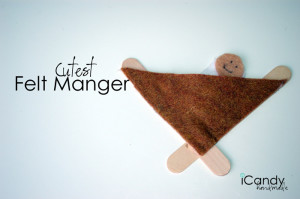 DIY Easy Felt Manger