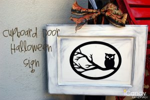 Cupboard Door Halloween sign