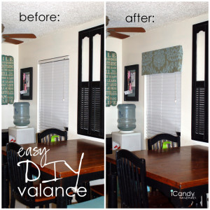 easy DIY Window Valance
