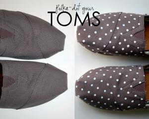 DIY Polka-Dot TOMS