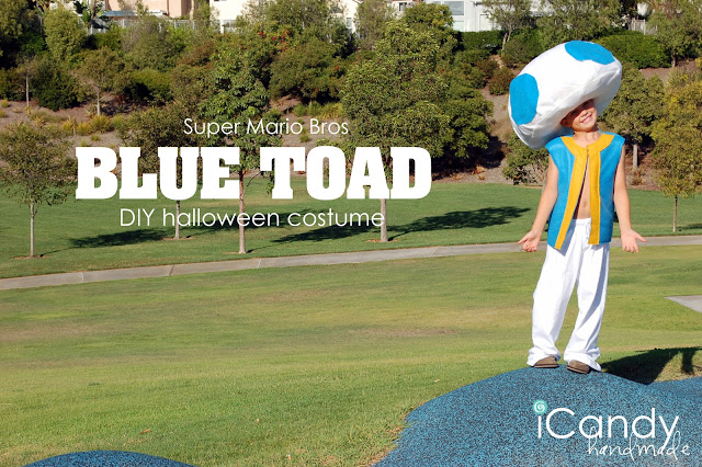 DIY Halloween Costume: Blue Toad