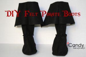 Semi-Homemade Pirate Costume: DIY Pirate Boots