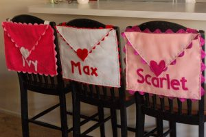 Chair-Back Valentine Envelope Knock-off
