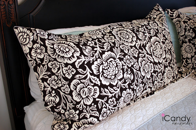 DIY King-sized Pillow Shams and Bed Makeover