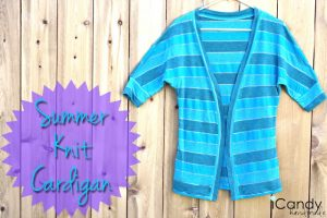 DIY Summer Knit Cardigan