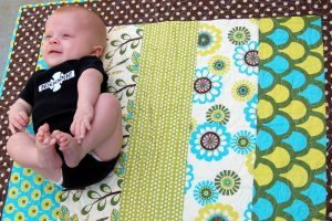 DIY Tummy Time Strip Quilt