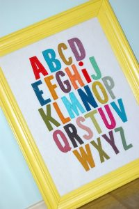 DIY Framed ABC's