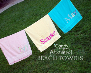 DIY Personalized Beach Towels