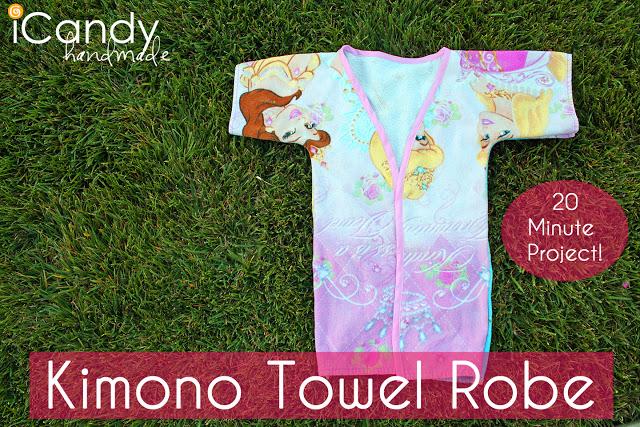 DIY Kimono Towel Robe
