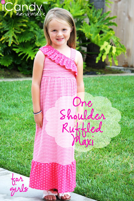 One Shoulder Ruffled Maxi Tutorial