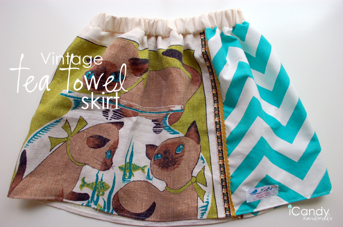 Vintage Tea Towel Skirt