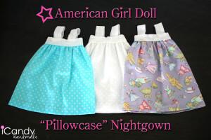 DIY American Girl Doll Pillowcase Nightgown