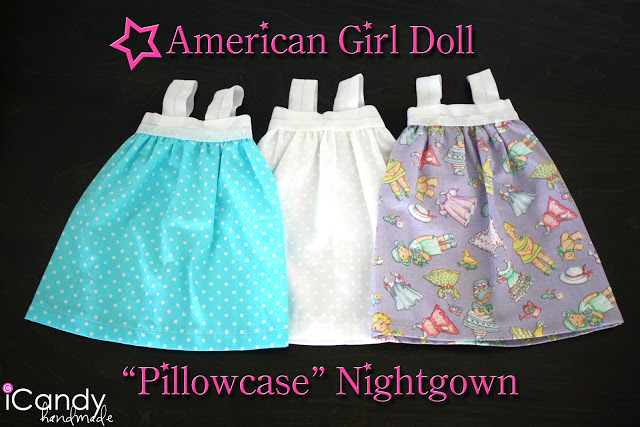 DIY American Girl Doll Pillowcase Nightgown