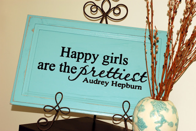 Happy Girls Cupboard Door Sign