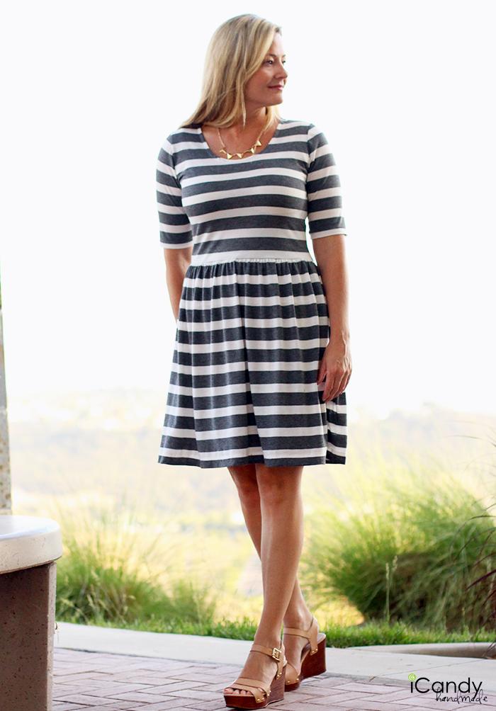 Striped Penelope Peplum