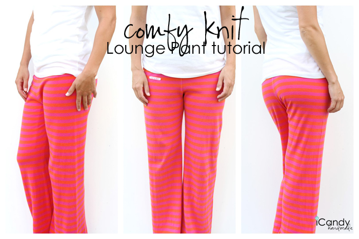Comfy Knit Lounge Pants Tutorial