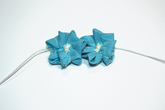 Finished Tiny Fabric Flowers
