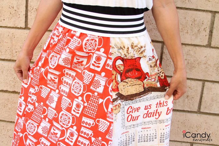 Vintage Tea Towel Skirt Mashup