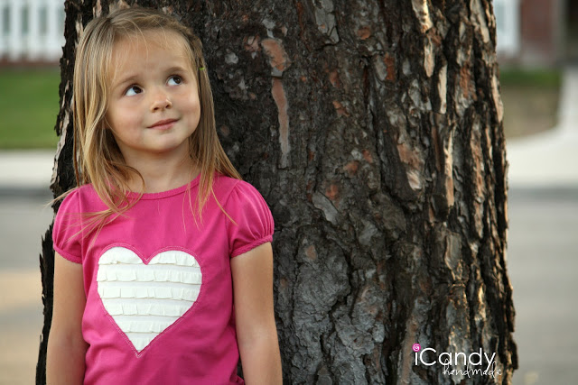 DIY Ruffled Heart Tee