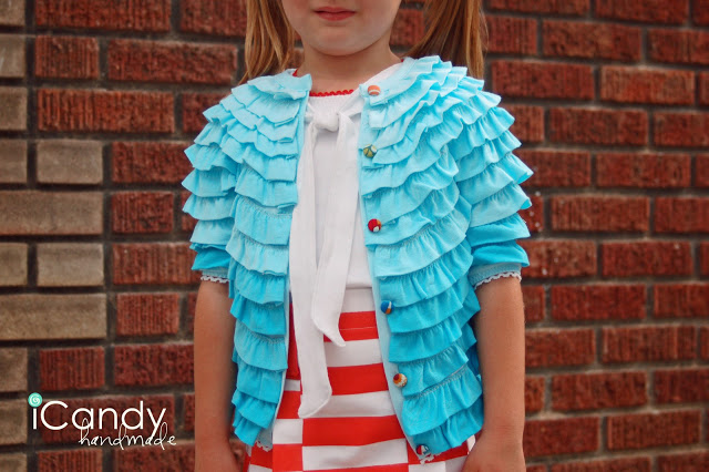 DIY back to school ruffled cardigan