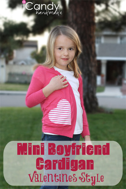 #FBF DIY Girls Heart Pocket Cardi